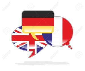 30508550-three-speech-bubbles-with-the-flags-of-Germany-France-and-the-UK-Stock-Photo